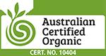 Australian Certified Organic - Cert No: 10404