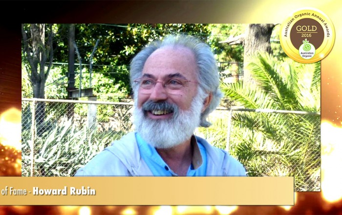 Australian Organic Awards - Howard Rubin - Hall of Fame medal 2016