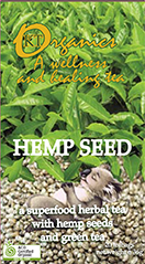 hemp seeds with organic green tea